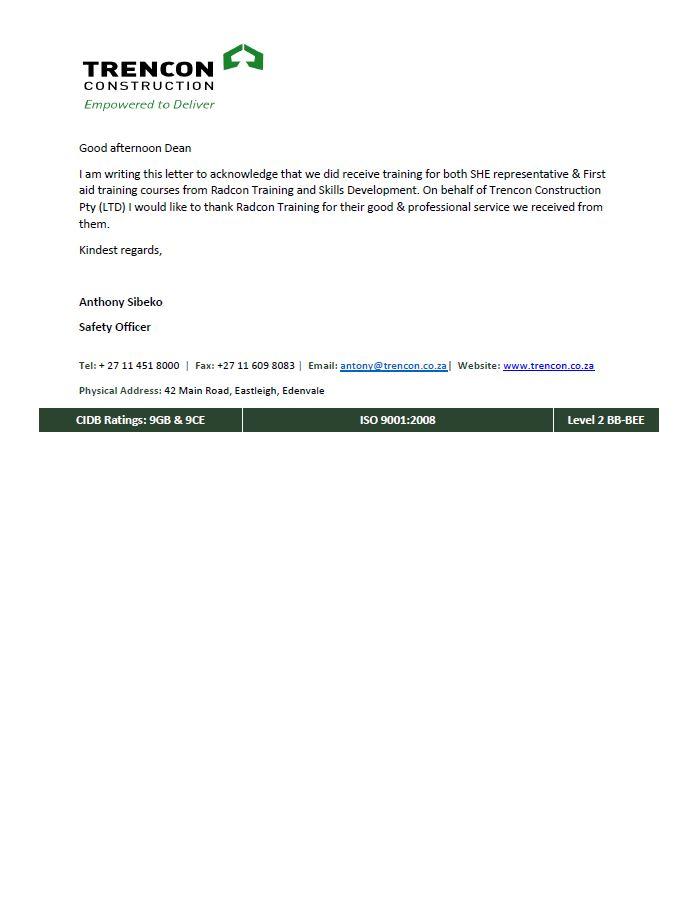 referral letters roshec occupational safety